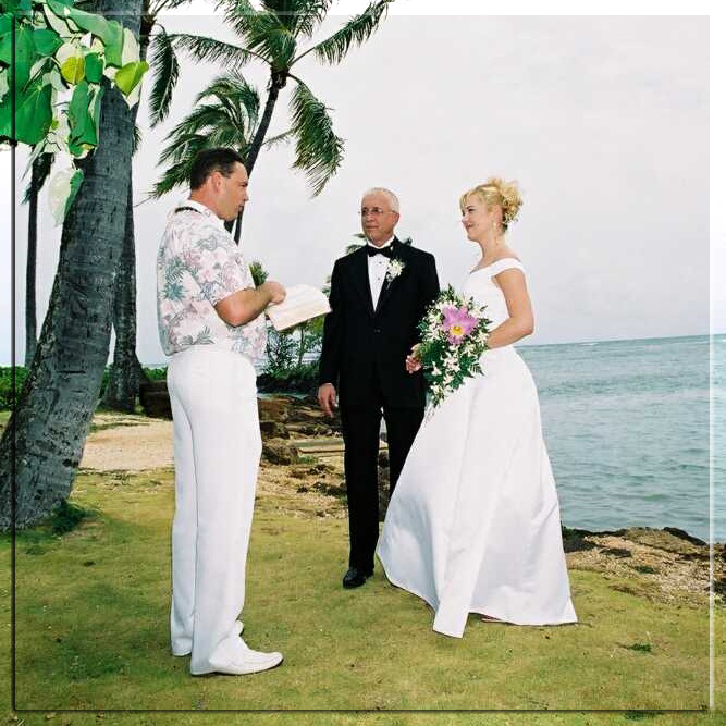 Hawaiian Wedding Package Wedding Minister Orchid Bouquet Limousine Service