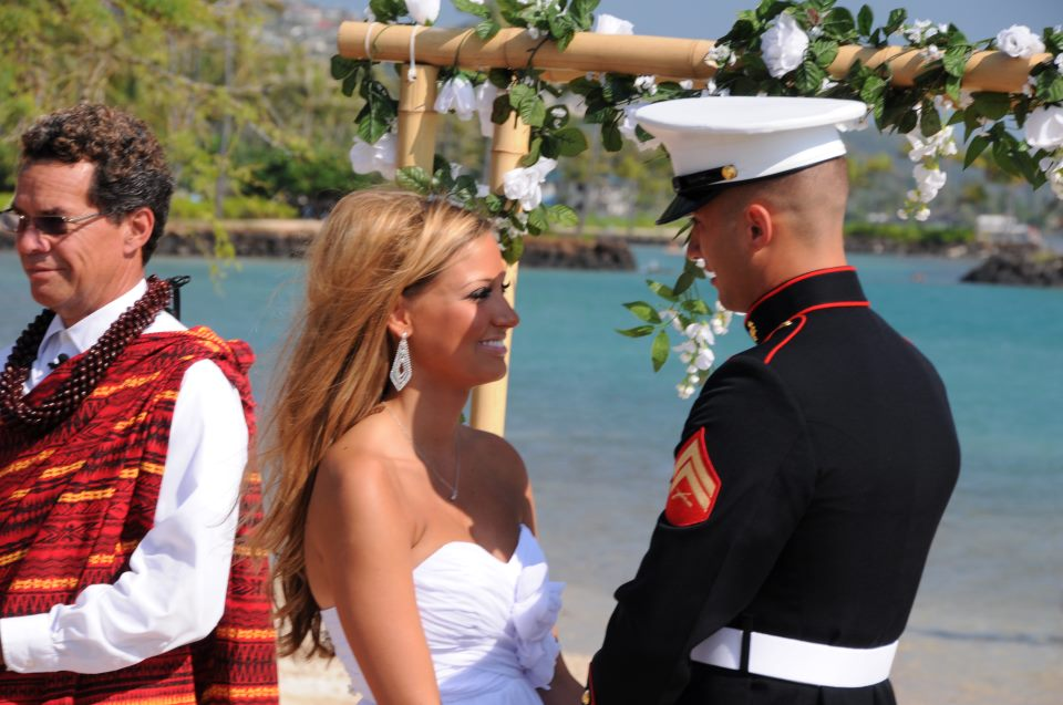 Our Kahala Wedding Package features a Wedding at the scenic Waialae Beach