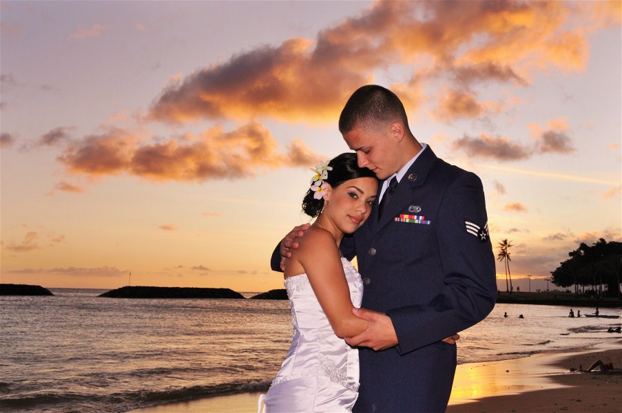 magic island wedding photos
