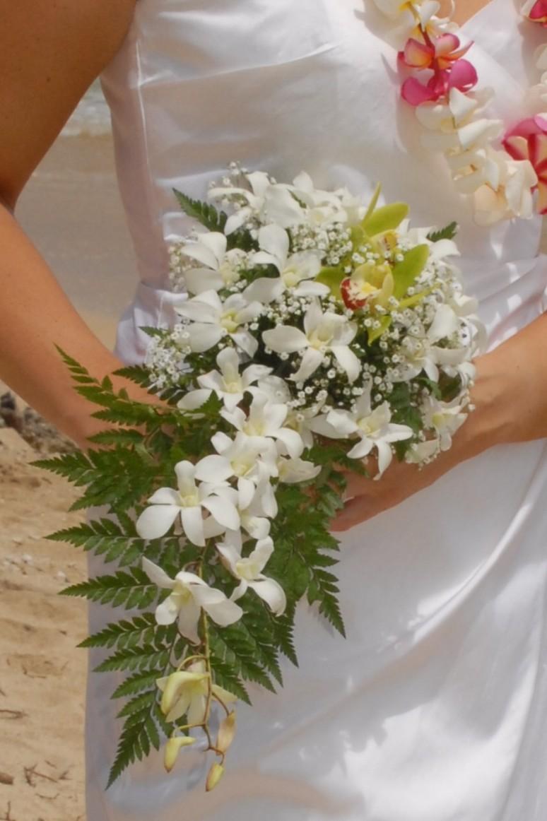 hawaii wedding flowers, bouquets & leis