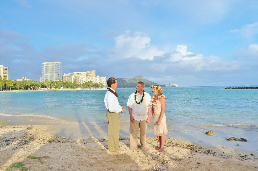 At Waikiki Beach Hawaii Weddings